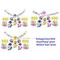 [Ready Stock] [Ready Stock] Kid Happy Birthday Baby Shark Balloon Aluminum Foil Party Decoration Set