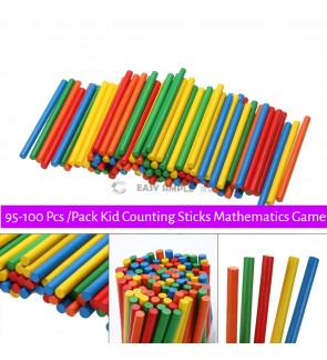 [Ready Stock] 95-100pcs/pack (OPP Pack) Wooden Counting Sticks Multicolored Math Arithmetic Learning Tool Game