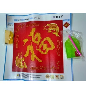 [Ready Stock] 2021 Chinese New Year DIY Wall Decorations (Partial Pasting) 5D Diamond Painting (Without Frame) 新年5D钻石画
