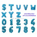 [Ready Stock] (1 Piece) 16 INCH Blue Foil Balloon Letter Alphabet Number (S - 9)