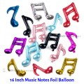 [Ready Stock] (1 Piece) 16 Inch Small Mini Size Music Musical Notes Foil Balloon Party Wall Decorations
