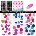 [Ready Stock] (1Pack) 4Meters Long Hanging Paper Garlands Strings Party Ornament Decoration Heart Circle Banner Birthday