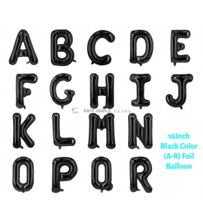 [Ready Stock] (1 Piece) 16 INCH Black Foil Balloon Letter Alphabet Number (A To R)
