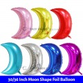 [Ready Stock] (1pc) 30 Inch or 36 Inch Moon Shape Foil Balloon Full Moon Party Decoration