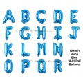 [Ready Stock] (1 Piece) 16 INCH Glossy Blue Foil Balloon Letter Alphabet Number (A To R)