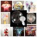 [Ready Stock] (1 Piece) 18/22/24/36 Inch Stretch/No Stretch/Flower Entry Type PVC Transparent Bobo Balloons