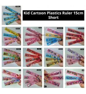 [Ready Stock] (3 Piece Random Design) 15cm Kid Cartoon Plastics Ruler Short Birthday Party Gift School Stationery