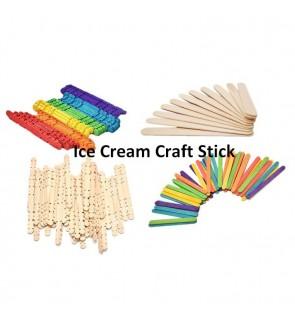 [Ready Stock] Wooden Craft Paddle Pop Popsicle Stirrers Ice Cream Sticks 50pcs