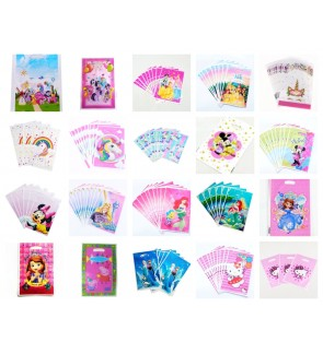 [Ready Stock] 10pcs/pack Kid Party Loot Goodies Gift Bag Supplies PVC Treat Girl