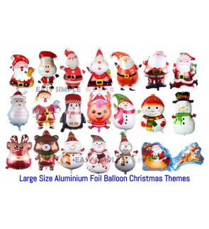 [Ready Stock] Merry Christmas Party Decoration Foil aluminium Balloon (XM01 - XM20