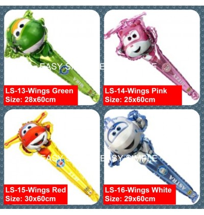 [Ready Stock]Aluminium Foil Balloon Kid Party Decoration 60-80cm Long Stick Gift