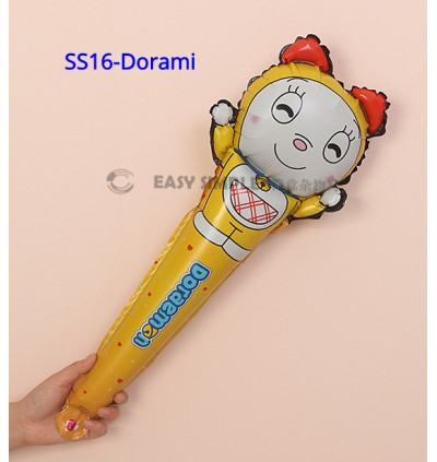 [Ready Stock] (1 piece) Aluminium Foil Balloon Kid Party Decoration 60cm Long Stick Gift