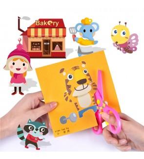 [Ready Stock]100pcs/box Kid Creative Activity Art Paper Cutting Arts Crafts Kits