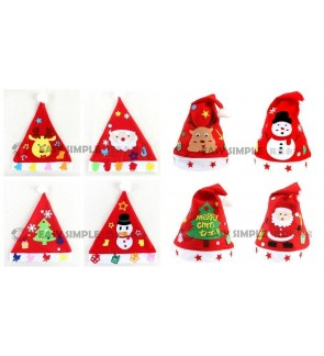[Ready Stock] DIY Craft Kit Santa Party Hat Christmas Kid Education Snowman Tree