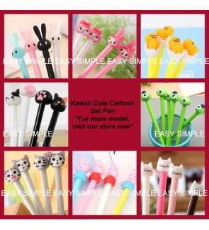 [Ready Stock] Kawaii Cute Cartoon 0.38mm Stationery Ballpoint Black Ink Pen Gift