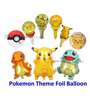 [Ready Stock] Pokemon Theme Aluminium Foil Balloon Kid Party Decoration Gift