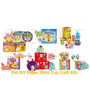 [Ready Stock] (1Box) Paper Plate Animal Children Kid Art Craft Kits Gift Hand-Eye Education (No Scissor Require)