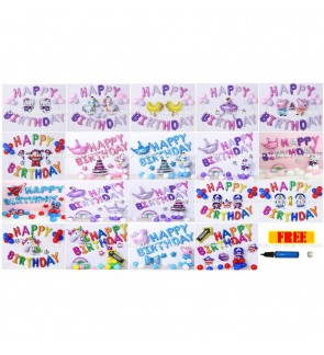 [Ready Stock] Kid Happy Birthday Party Decoration Balloon Celebration Set Event
