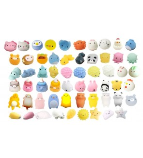 [Ready Stock] Mini Mochi Squishy Squeeze Heal Fun Kid Kawaii Toy Stress Reliever