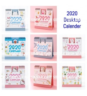 [Ready Stock]2020 Desk-Top Flip Table Calender Monthly Planner Office Stationery