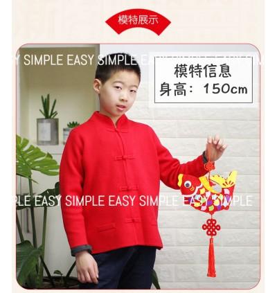 [Ready Stock] Chinese New Year 3D Kid DIY Fish Ornaments Room Decoration Craft Kits Handmade