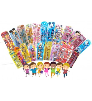 [Ready Stock] 5pcs/set Kid Cartoon School Stationery Supplies Set Birthday Gift