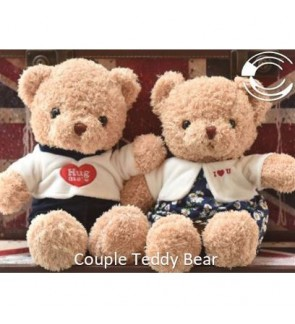 [Ready Stock] ️ Creative Valentine Gift Lovely Couple Teddy Bear Stuffed Toys
