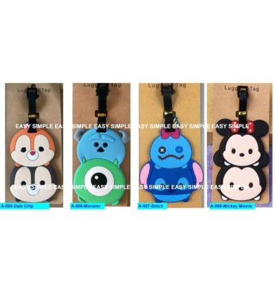[Ready Stock] Travel Luggage Suitcase Bag Tag Gift Holiday Cute Cartoon TsumTsum