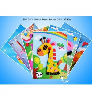 [Ready Stock] EVA DIY Craft Kits - Animal Foam Sticker DIY Craft Kits (EVA Art)