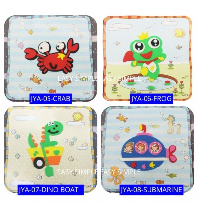 [Ready Stock] Kid 3D EVA Hand Craft Sticker 15cm*15cm Fun Education Gift Holiday