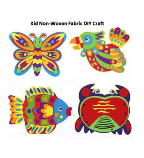 [Ready Stock] Easy Kid DIY Creative Non-Woven Fabric Animal Craft Kits Education