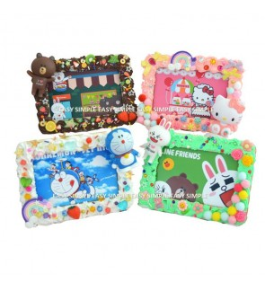 [Ready Stock] Kid DIY Craft Kit Cream Simulation Frame Education Gift Handicraft