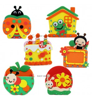 [Ready Stock] (1 Piece) Kid EVA DIY - Make Your Own Pencil Holder Easy Art Craft Kits Stationery Early Education
