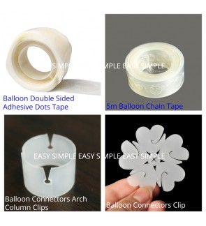 [Ready Stock]Balloon Double Sided Tape Chain Connector Flower Clip Balloon Tying Tool Accessories Column