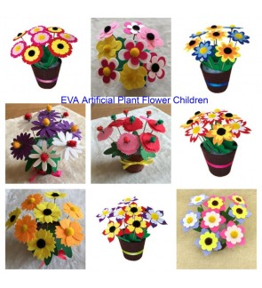 [Ready Stock] EVA Artificial Plant Flower Children / Kid Education Handcraft DIY