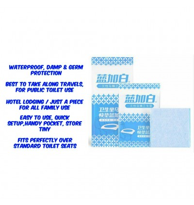 [Ready Stock] Travel Disposable Toilet Seat Cover Public Anti-bacterial Pad