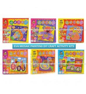 [Ready Stock] Mosaic EVA Kid DIY Craft Activity Kits Gift Education Party School