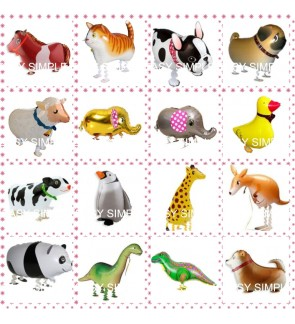 [Read Stock] Cute Animal Balloon Walking Pet Balloons / Walking Balloon Party