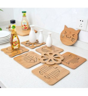 [Ready Stock] Wooden Heat Resistant Table Mat Cooking Isolation Pan Pot Holder