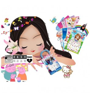 [Ready Stock] Colorful Nail Stickers Nail Art for Children Kid Adorable DIY PVC