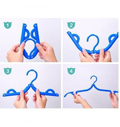 [Ready Stock] Portable Folding Clothes Hangers Foldable Drying Rack Travel