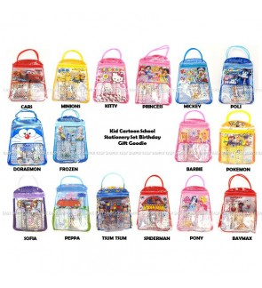 [Ready Stock] 6pcs/bag Kid Cartoon School Stationery Set Birthday Gift Goodie
