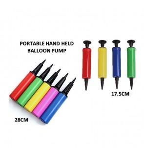 [Ready Stock] Balloon Ball Inflator Air Portable Plastic Hand Held Pump (1 Unit)