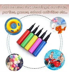 [Ready Stock] Balloon Ball Inflator Air Portable Plastic Hand Held Pump (1 Unit)