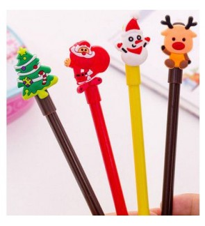 [Ready Stock] Kawaii Cute Cartoon Stationery Ballpoint Black Ink Pen Kid Gift