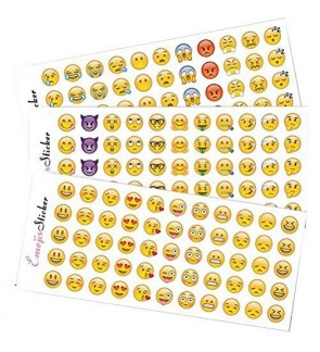 [Ready Stock] Emoji Sticker Pack 12 Sheets Faces Icons Kid DIY Stationery Craft