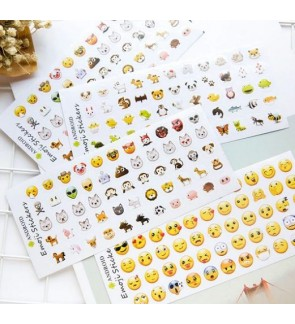 [Ready Stock] Emoji Sticker Pack 12 Sheets/Pack Faces Icons Kid DIY Stationery Scrapbook Craft Classic Type