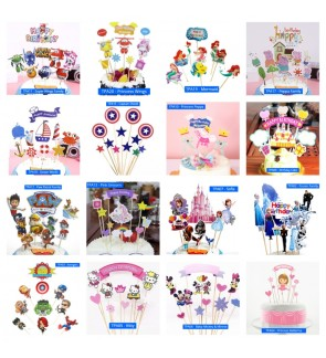 [Ready Stock] Lovely Baby Girl Boy Cake Long Topper Decoration Party Accessories