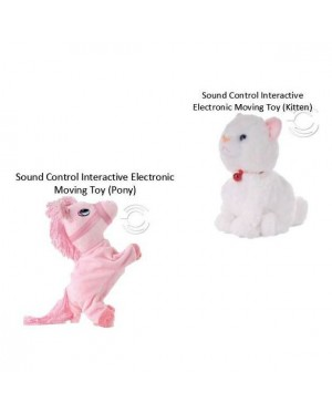[Ready Stock] Sound Control Electronic Moving Kitten  Baby Kids Stuffed Toys
