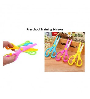 [Ready Stock] Preschool Training Scissors Child-Safe Handmade Kids Art Craft